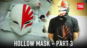 print your own halloween mask 117 3 hollow mask part 3 paint u0026 lenses bleach ichigo
