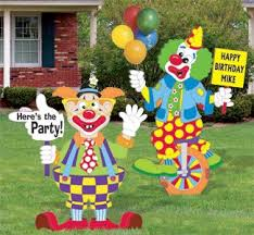 rent a clown for a birthday party best 25 lawn sign ideas on baby reveal party ideas