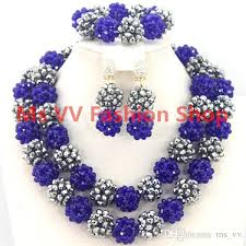 african crystal beads necklace images 2018 delicate jewelry sets blue silver jewellery gemstone african jpg