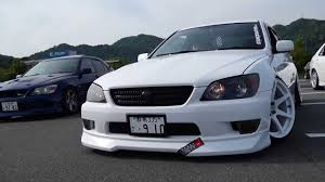 toyota altezza stance simply u0026clean my altezza in team altezza meeting 2013 youtube