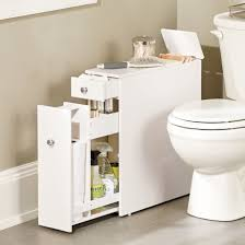 slim bathroom cabinet fits in that un used space between the