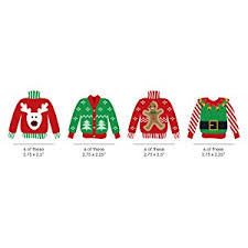 amazon com ugly sweater diy shaped holiday u0026 christmas cut outs