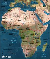 africa map landforms maps of america