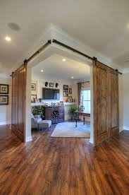 Sliding Barn Doors A Practical Solution For Large Or by Corner Office Or Study Area With Double Sliding Barn Doors By