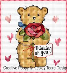 lesley teare designs teddy cards for happy occasions cross