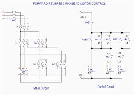 forward reverse 3 phase ac motor control wiring diagram remarkable