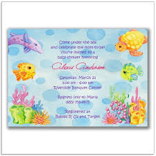 the sea baby shower invitations theme baby shower invitations