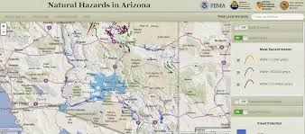 Az City Map Arizona Geology Arizona Natural Hazards Viewer Offers Online