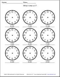 telling time analog clocks 30 min small clip art abcteach