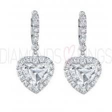 diamond earrings uk heart diamond earrings diamondsandrings co uk