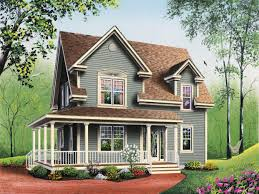 Country Homes Plans by Designs For Country Farmhouse Style House Plan In Country Home