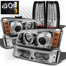 2005 chevy silverado 2500hd tail lights chevy silverado 2003 2006 chrome ccfl halo headlights bumper lights