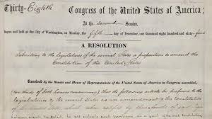 congress passes 13th amendment 150 years ago history in the