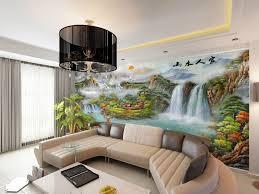 CustommuralwallbedroomTVbackgroundwallpaperthelivingroom - Wallpaper designs for living room