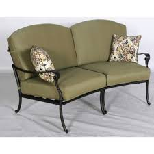 Curved Sectional Patio Furniture - hampton bay outdoor loveseats outdoor lounge furniture the