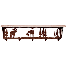 moose family coat rack with shelf 34 inch