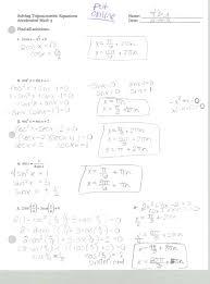 basic trig identities worksheet worksheets