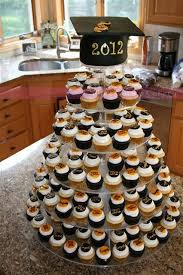 cupcake tower for graduation party graduation party pinterest