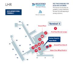 Heathrow Terminal 3 Information Desk London Heathrow International Airport Map Lhr Delta Air Lines