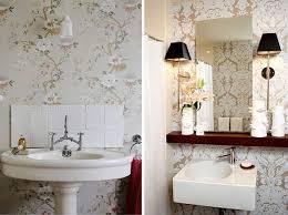 Wallpaper Ideas For Small Bathroom Bathroom Wallpaper Decorating Ideas Aytsaid Amazing Home Ideas
