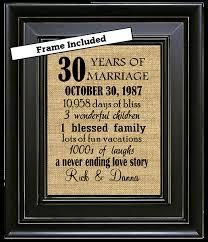 30th wedding anniversary gift ideas framed 30th wedding anniversary gift 30th anniversary gifts