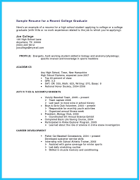 Resume Template For Students With Little Experience High Student Resume Template Example Of High