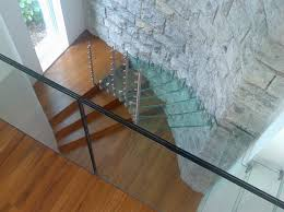 Wood Glass Stairs Design Enthralling Glass Staircases That Add Sculptural Style To Your Home
