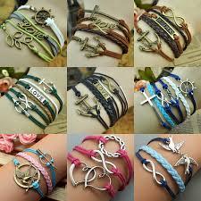 bracelet love ebay images Infinity anchor rudder love leather nautical friendship bracelet jpg