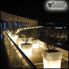 illuminated planters lighted planters plantersunlimited