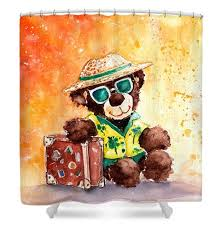 Teddy Shower Curtain Shower Curtains Go Teddy