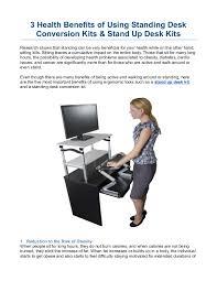 Standing Desk Health Benefits 3 Health Benefits Of Using Standing Desk Conversion Kits U0026 Stand Up D U2026