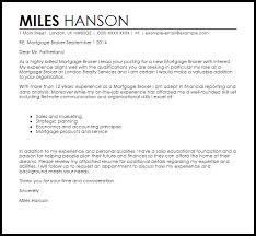 Cover Resume Letter Examples by Mortgage Broker Cover Letter Sample Livecareer