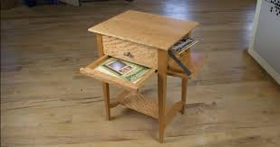 Nightstand With Hidden Compartment Art Of Concealment U2013 Hidden Compartments In A Shaker Side Table