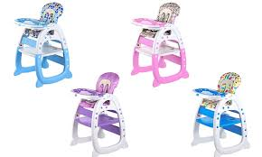 High Chair Desk Baby Highchair U0026 Desk 2 In 1 Groupon Goods