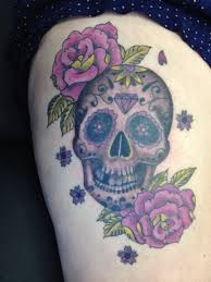 collection of 25 girly sugar skull on thigh