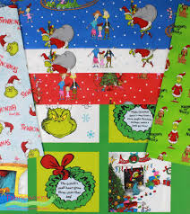 robert kaufman how the grinch stole christmas 6 in fat quarters 6