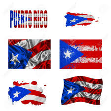 Puerto Rico Map Us by Puerto Rico Flag And Map In Different Styles In Different Textures