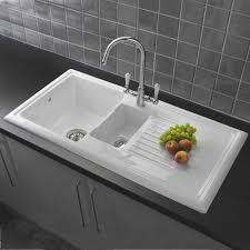 White Single Bowl Dropin Kitchen Sink - White single bowl kitchen sink