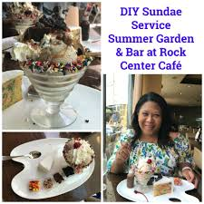 Rockefeller Center Summer Garden - rock center cafe diy sundae service summer garden and bar at rock