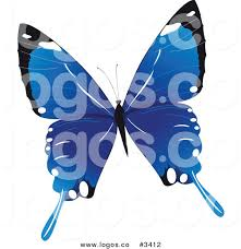 royalty free blue butterfly stock logo designs
