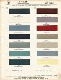 1965 pontiac lemans gto oem car paint colors