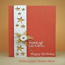write name on birthday greeting cards for lover