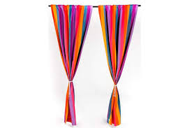 Multi Colored Curtains Drapes Curtains On Sale Striped Rod Pocket Curtain Panel Handmade