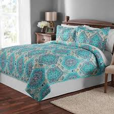mainstays paisley quilt bedding collection walmart