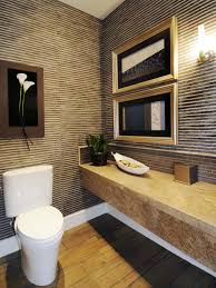 Yellow Tile Bathroom Ideas Half Baths And Powder Rooms Hgtv