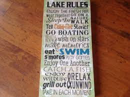 lake rules lake sign lake house sign by kerriart on etsy 55 00