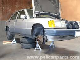 mercedes benz 190e jacking up your vehicle w201 1987 1993