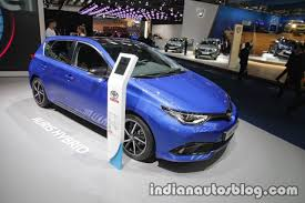 2018 toyota auris hybrid front three quarter at iaa 2017 indian