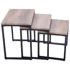 modern coffee and end tables amazon com giantex 3pc stacking nesting coffee end table set
