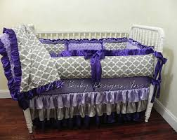 Purple Nursery Bedding Sets Purple Baby Bedding Etsy